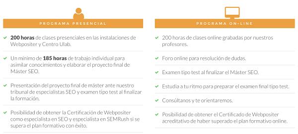 Máster SEO Webpositer Academy Alicante